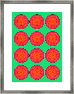 Bubbles Watermelon Warhol  By Robert R Framed Print by Robert R Splashy Art Abstract Paintings