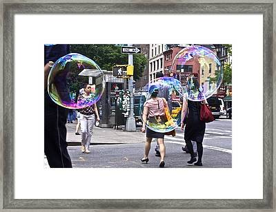 Bubblewalk Framed Print by Heidi Horowitz