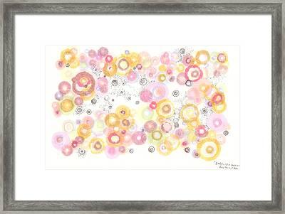 Bubbling Away Framed Print