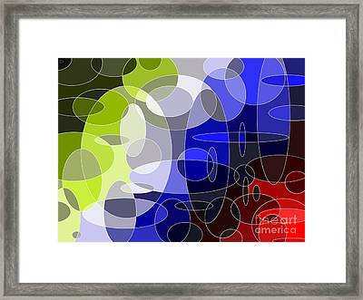 Bubbling Colours Framed Print