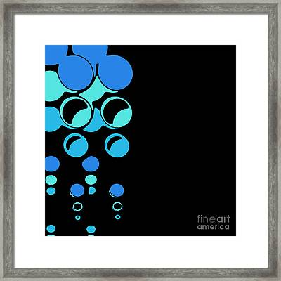 Bubbling For Bubbles - 24-blue Framed Print by Variance Collections