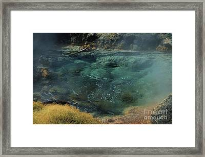 Bubbling Hot Springs Framed Print by Kathleen Struckle
