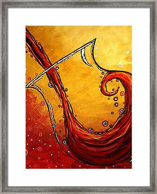 Bubbling Joy Original Madart Painting Framed Print by Megan Duncanson