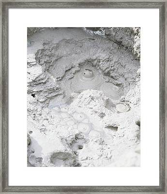 Bubbling Mud In A Hot Spring Framed Print