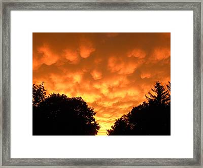 Framed Print featuring the photograph Bubbling Sky by Teresa Schomig