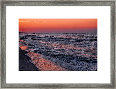 Framed Print featuring the digital art Bubbling Surf by Michael Thomas
