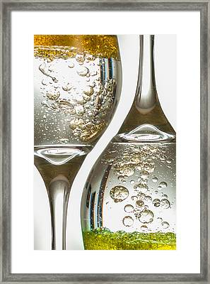 Bubbling Up And Down Framed Print