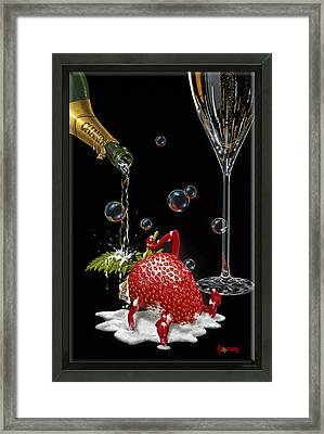 Bubbly Bath Framed Print by Michael Godard