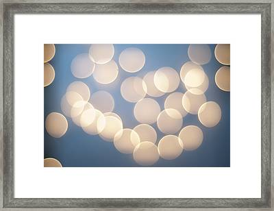 Bubbly Bokeh Framed Print by Christi Kraft