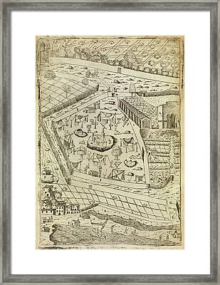 Bubonic Plague Quarantine Site Framed Print by Middle Temple Library