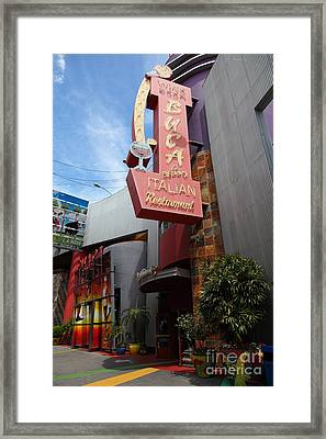 Buca Italian Restaurant Universal Studios City Walk Hollywood In Los Angeles California 5d28413 Framed Print by Wingsdomain Art and Photography