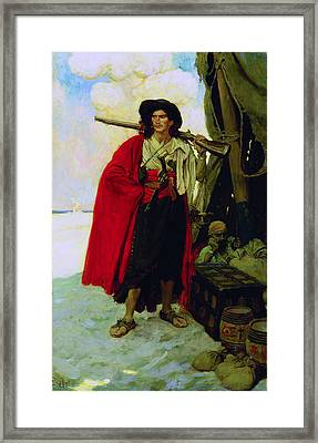 Buccaneer Of The Caribbean Framed Print by Howard Pyle