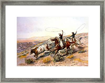 Buccaroos Framed Print by Charles Russell