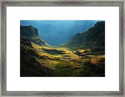 Bucegi Mountains Framed Print