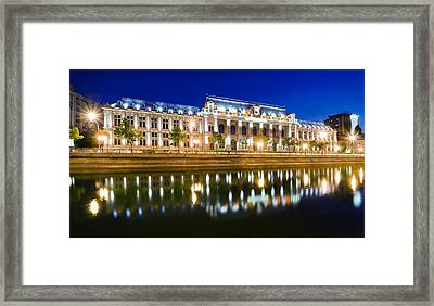 Bucharest At Night Framed Print by Ioan Panaite