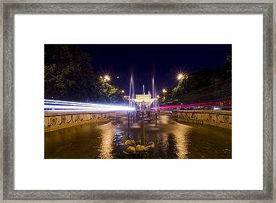 Bucharest Night Traffic Framed Print by Ioan Panaite