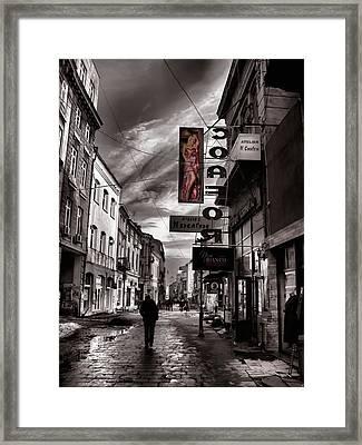 Bucharest Street Framed Print