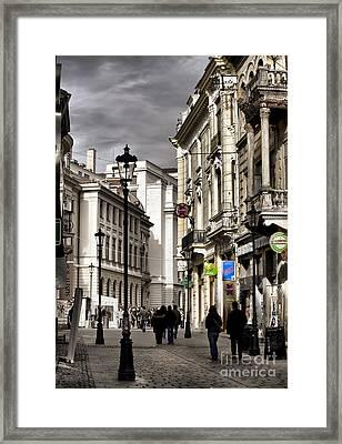 Bucharest The Little Paris Framed Print