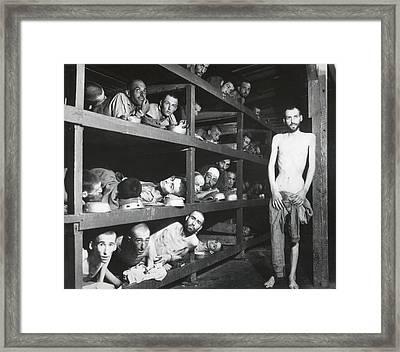 Buchenwald Concentration Camp Survivors Framed Print