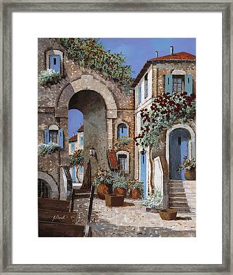 Buchi Blu Framed Print by Guido Borelli