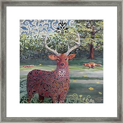 Buck Framed Print by Gary Peterson