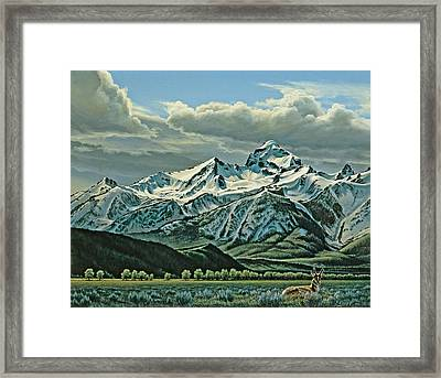 Buck Mountain From Antelope Flat Framed Print by Paul Krapf