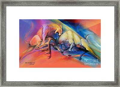 Framed Print featuring the painting Buck Off by Rob Corsetti
