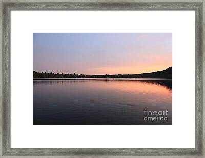 Buck Pond At Dusk Framed Print by Paul Cammarata