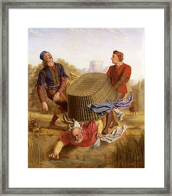 Buck Washing On Datchet Mead From The Merry Wives Of Windsor Framed Print by Litz Collection