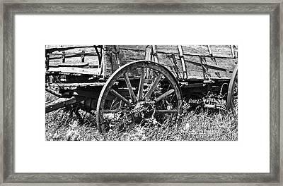 Buckboard  Framed Print by Juls Adams