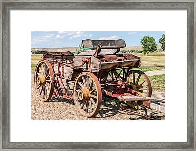 Buckboard Wagon Framed Print