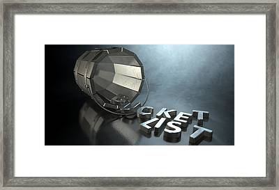 Bucket List Charm And Letters Framed Print by Allan Swart
