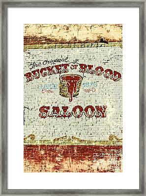 Bucket Of Blood Saloon Framed Print by Benanne Stiens