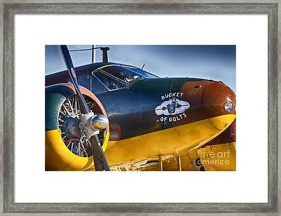 Bucket Of Bolts Framed Print