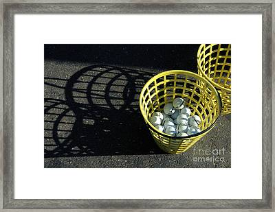Bucket Of Golf Balls Framed Print by Amy Cicconi