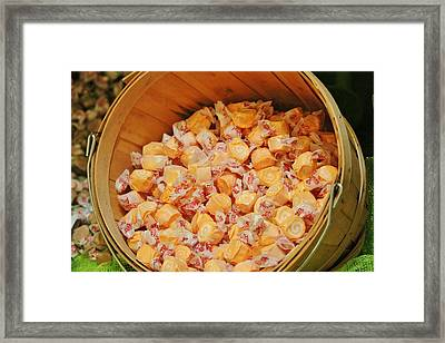 Framed Print featuring the photograph Bucket Of Taffy by Cynthia Guinn