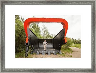 Bucket Shovel Used In The Tar Sands Framed Print