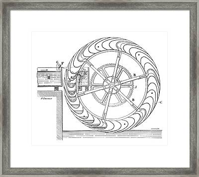 Bucket Water Wheel Framed Print by Science Photo Library