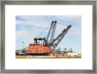 Bucket Wheel By Syncrude Upgrader Plant Framed Print by Ashley Cooper