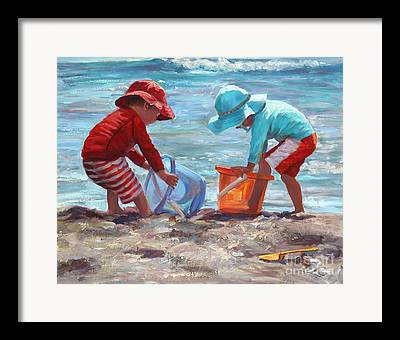 Sand Castles Paintings Framed Prints