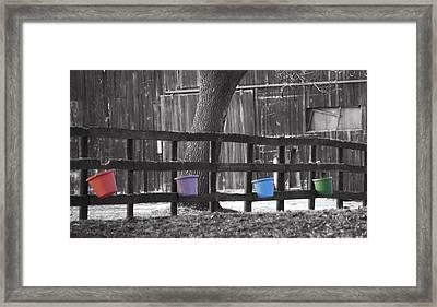 Buckets Framed Print