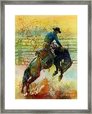 Bucking Rhythm Framed Print