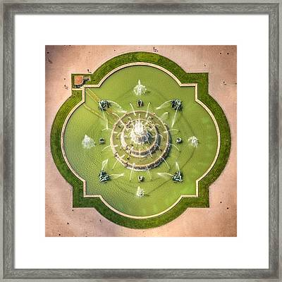 Buckingham Fountain From Above Framed Print by Adam Romanowicz