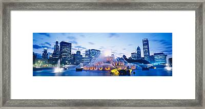 Buckingham Fountain, Grant Park Framed Print by Panoramic Images