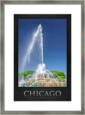 Buckingham Fountain Spray Poster Framed Print by Christopher Arndt
