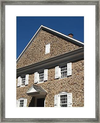 Buckingham Friends Meeting Side View Framed Print by Anna Lisa Yoder