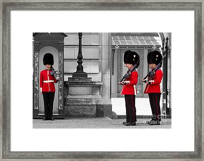 Buckingham Palace Guards Framed Print by Matt Malloy