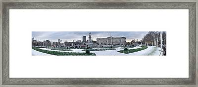 Buckingham Palace In Winter, City Framed Print by Panoramic Images
