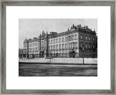 Buckingham Palace - London England Framed Print by Antique Engravings