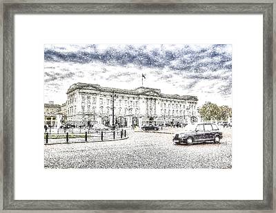Buckingham Palace Snow Framed Print